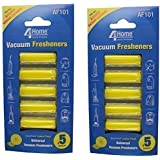Universal Vacuum Hoover Cleaner Lemon Air Freshener Fresheners Pack of 10