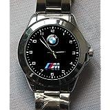 Automotif BMW Theme Custom Face Custom Metal Sport Watch (Color: Silver)