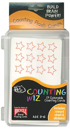 Buy 54 Colorable Counting Flash Cards with Reward Chart and Stickers.