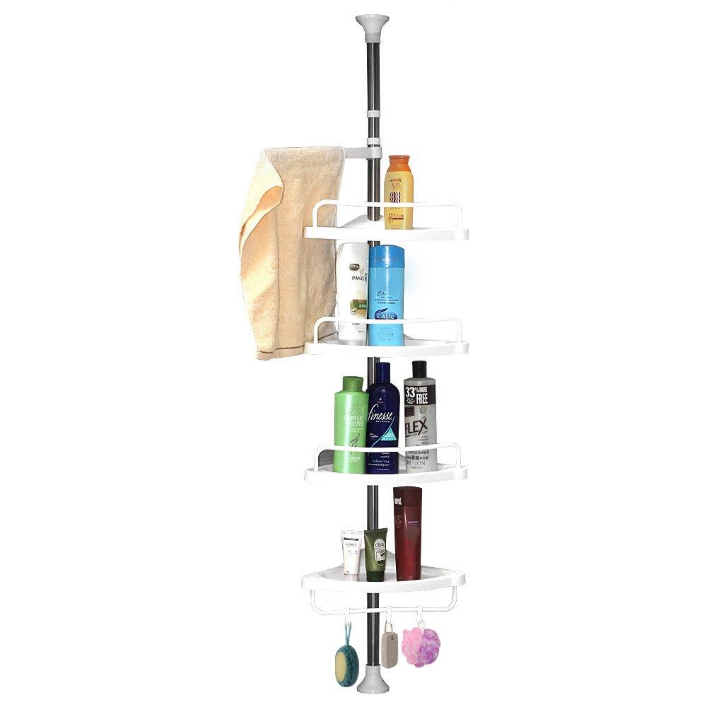 4 Tier Telescopic Adjustable Corner Shower Bathroom