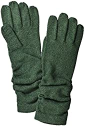 Merona Womens Long Green Ruched Knit Gloves