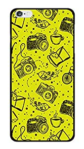 """Humor Gang Cameras In Yellow Printed Designer Mobile Back Cover For """"Apple Iphone 6 - 6S"""" (2D, Glossy, Premium Quality Snap On Case)"""