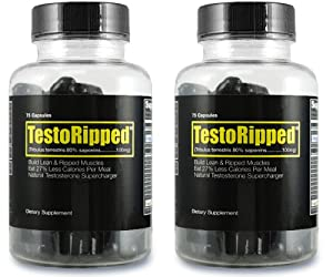 2 Pack Testoripped Hardcore Fat Burner - Muscle Building Diet Pill For Men - Strength Power Lean Muscle Energy Gains And Fat Loss from Testoripped