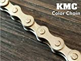 【KMC】 カラーチェーン ピストバイク シングルギア (1-1/8)用 シルバー 自転車 チェーン