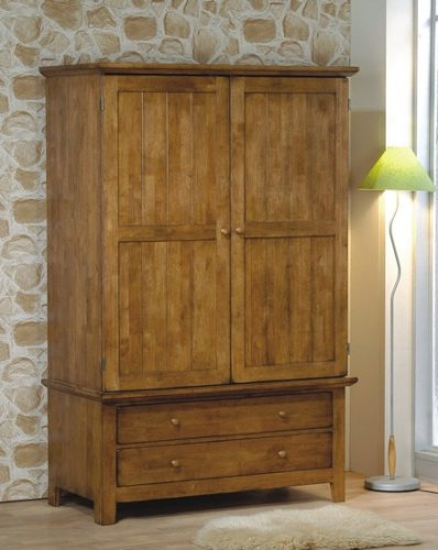 Cheap Heritage Collection Medium Brown Finish Solid Wood TV Armoire Stand (VF_200086)