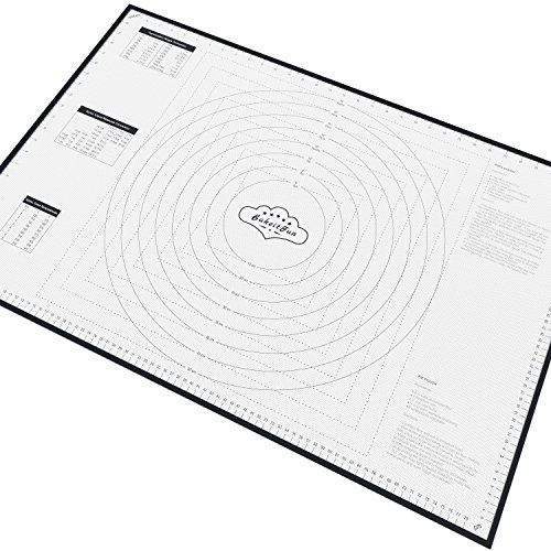 BakeitFun XX-Large Silicone Pastry Mat With Measurements, 33.5