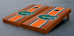 Florida UF Gators Cornhole Game Set Rosewood Stained Striped Version Corn Hole by Gameday Cornhole