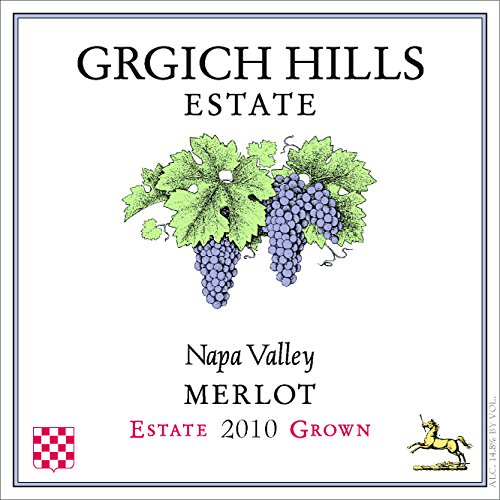 2010 Grgich Hills Estate Napa Valley Merlot 750 Ml