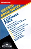 img - for John Knowles's a Separate Peace (Barron's Book Notes) book / textbook / text book