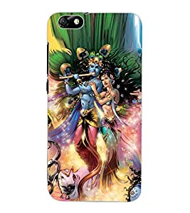 ColourCraft Radha Krishan Lovely Painting Design Back Case Cover for HUAWEI HONOR 4X