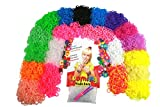 #1 Ultimate 10K Refill Loom Band Kit - 10,000 RAINBOW COLORED BANDS - Solid * Neon * Glow in the Dark * Glitter * Change Color * Polka Dot * Striped * & Flowered Bands * 1000 Clear S-clips * 10 Loom Hooks * 50 NEW Designs Loom Charms * Includes Exclusive Looming Made Easy Guide for Tips and Rubber Band Bracelet Patterns Ideas