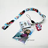 Disney Frozen Multi Lanyard Detachable Key Chain & Key Holder & Name Tag (Anna & Elsa)