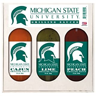 MICHIGAN STATE Spartans Grilling Gift Set 3-12 oz