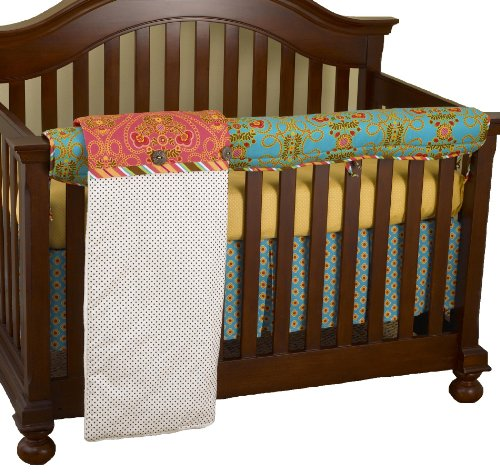 Cotton Tale Designs Front Crib Rail Cover Up Set, Gypsy