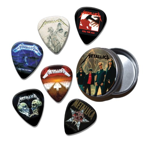 Metallica Set of 6 Loose Chitarra Picks Plettri in Tin ( Collection B )