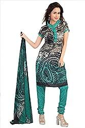 Variation Women's Black Jacquard Unstiched Dress Material (VD11957)