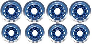 Indoor ROLLER HOCKEY WHEELS HiLo SET 4-76mm 4-80mm 78a by [BLANKNYC]