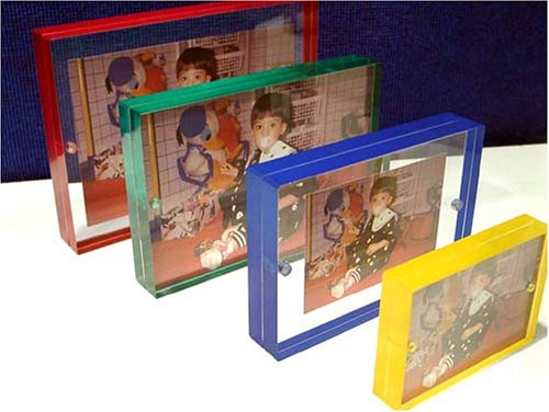 Color Edge Magnet Frame by Canetti-Red-5x7 inch