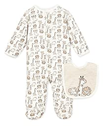 Little Me Safari Footie, Ivory Multi, 9 Month