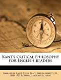 img - for Kant's critical philosophy for English readers book / textbook / text book