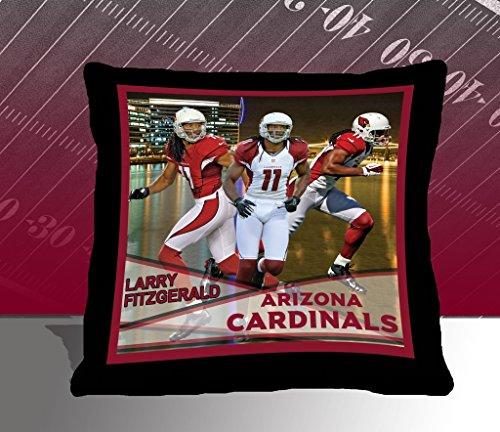 Nfl Biggshots Bedding - Arizona Cardinals Larry Fitzgerald Toss Pillow, 18-Inch front-877284