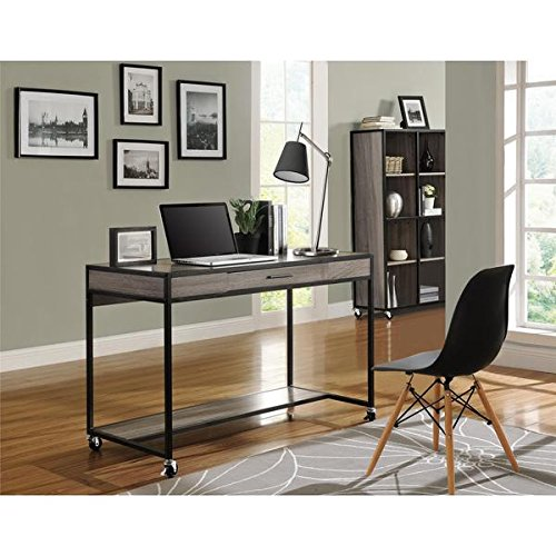 Altra Mason Ridge Mobile Desk with Metal Frame Sonoma 4 Shelf Bookcase