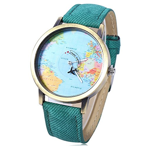 leopard-shop-cuarzo-reloj-de-pulsera-dial-de-mapa-del-mundo-cuero-banda-verde