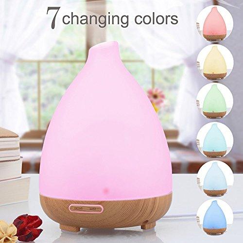 Diffusore-di-AromiRixow-120ml-Vetro-Smerigliato-Umidificatore-ad-UltrasuoniDiffusore-oli-Essenziali-7-Colori-3-LED-Auto-off-Purificatore