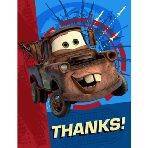 Disney's Cars 2 - Thank-You Notes Party Accessory