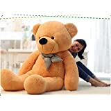 VERCART 4 Foot 47 inch Light Brown Giant Huge Cuddly Stuffed Animals Plush Teddy Bear Toy Doll (Color: Light Brown, Tamaño: 47