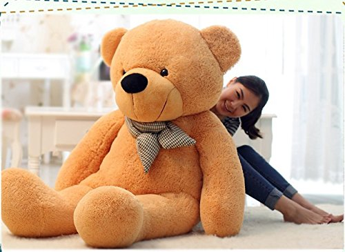 VERCART 79 inches Light Brown Giant Huge Cuddly Stuffed Animals Plush Teddy Bear Toy Doll (Vt Teddy Bear compare prices)