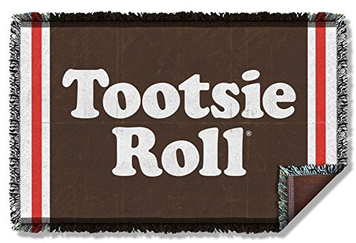 Woven Throw: Wrapper Tootsie Roll TR131TAP