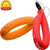 Waterproof Camera Float (2-pack) Floating Camera Strap for Your Underwater GoPro/Panasonic Lumix/Nikon COOLPIX AW110/Canon PowerShot D20/Fujifilm FinePix/Olympus Tough/Sony - Floats Your Phone Case, Keys, iPhone, Galaxy S5 & Xperia Z1 Around Your Wrist and Saves Your Device from Sinking - (Red & Orange) - 1 Year Warranty