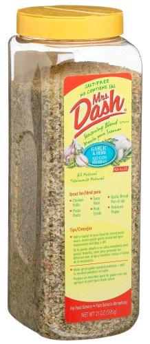 Mrs Dash Herb & Garlic Salt Free Blend, 21-Ounce Plastic Jar