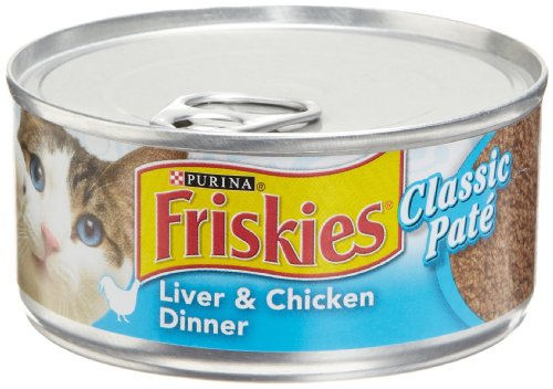 Friskies Cat Food Classic Pate, Liver & Chicken Dinner, 5.5-Ounce Cans (Pack of 24)