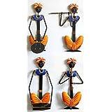 Karigaari Set Of 4 Rajasthani Ladies Wall Hanging Art (13 Cm X 5 Cm X 25 Cm)