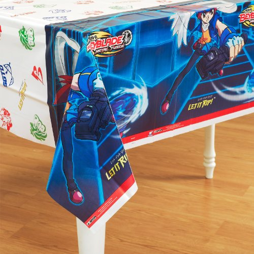 Beyblade Plastic Table Cover (1ct) (Beyblade Birthday Supplies compare prices)