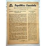 REPÚBLICA ESPAÑOLA. Organo de Acción Republicana Democrática Española A.R.D.E. Nº 63, 15 diciembre 1977