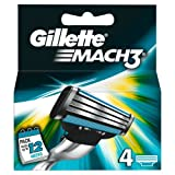 Gillette Mach 3 Manual Razor Blades - Pack of 4
