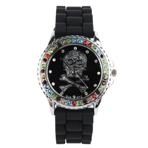 Yesurprise New Classic Trendy Crystal Rubber Jelly Silicone Lady Girls Casual Sport Wrist Watch for Graduation Party Gift Trendy #2