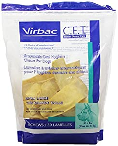 C.E.T. Enzymatic Oral Hygiene Chews for Extra Large Dogs (51+ Pounds)-Economy-Pkg 60Ct