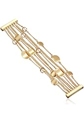 """Kenneth Cole New York """"Mixed Metal"""" Bead Multi-Row Gold Bracelet, 7.75"""""""