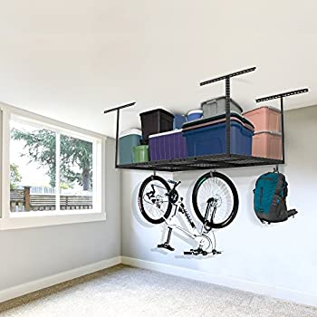 FLEXIMOUNTS 3x6 Overhead Garage Storage Adjustable Ceiling Storage Rack, 72