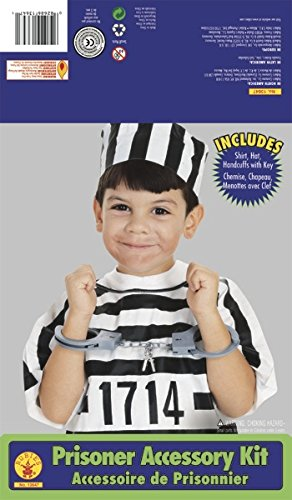 Rubie'S Costume Child'S Convict/Prisoner Dress-Up Kit front-497024