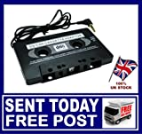 CAR CASSETTE ADAPTER MP3 TAPE PLAYER IPHONE IPOD MP3 CD RADIO STEREO NANO 3.5mm ** SAME DAY DESPATCH ** SOLD OVER 1000 +