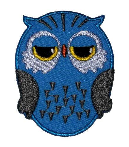 Owl Cute Cartoon Diy Applique Embroidered Sew Iron On Patch Ow-002