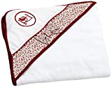 Colección Rosabel Luz - Capa de baño para bebé, color blanco y rojo