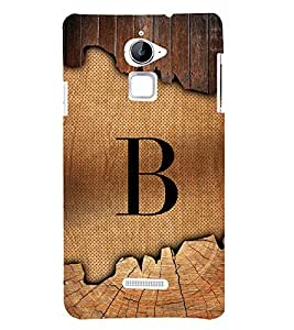 Initial B Wooden Alabhet 3D Hard Polycarbonate Designer Back Case Cover for Coolpad Note 3 Lite