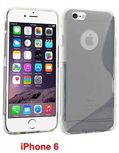 "Unitewell Clear Matte Slim Soft Gel Skin TPU Cover Case for Apple iPhone 6 4.7"" inch Screen 2014 Smartphone + iphone 6 4.7"" inch High Definition Screen protection film"