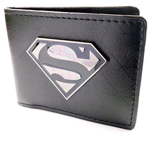 Dc comics superman badge symbole noir portefeuille - Symbole de superman ...